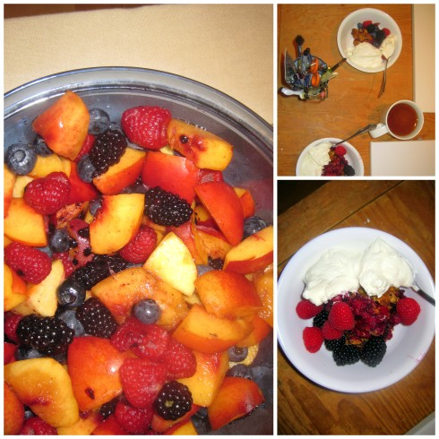 Nectarine and Wild Berry Crisp