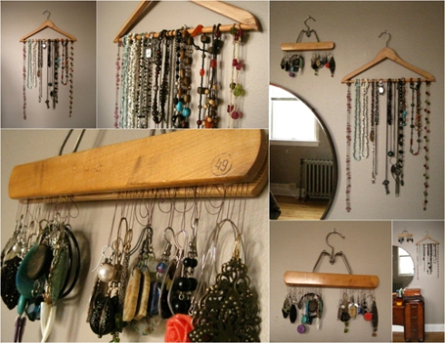 Clothes Hanger Jewelry Organizer