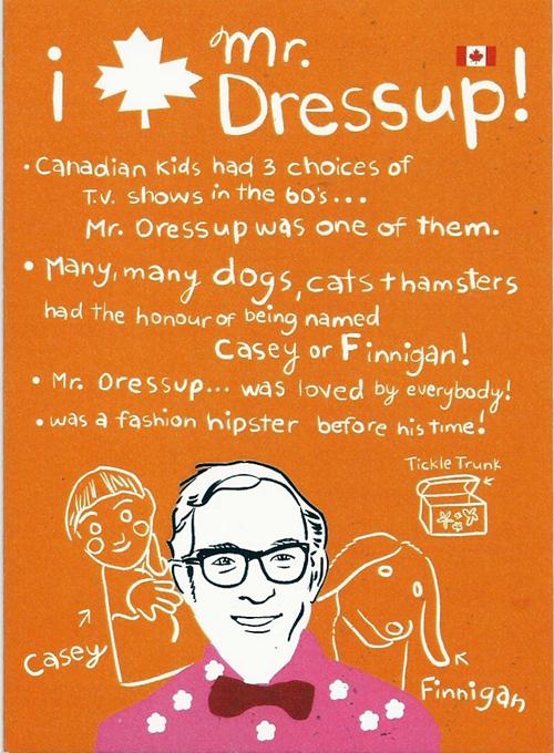 mr Dressup Drawing Wendy's mr Dressup Card