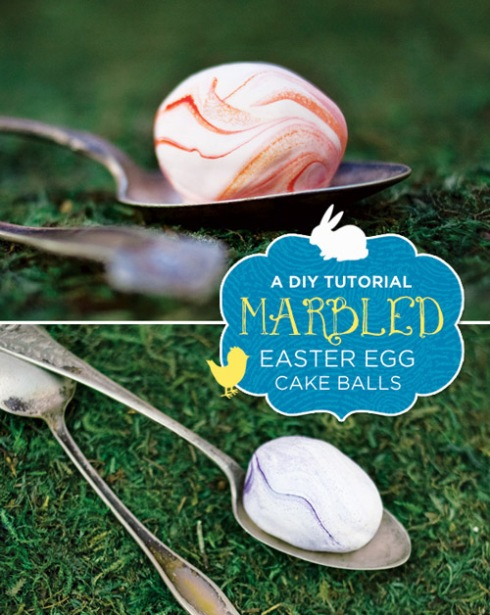 DIY Marbled Easter Egg Cake Balls
