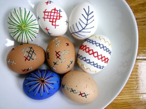 SEWING 101- EMBROIDERED EGGS